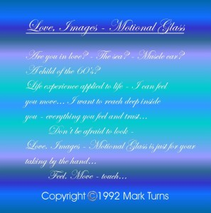 Cover poem. Love, Images, Motional-Glass.